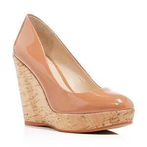 Vince Camuto Faran Cork Platform Wedge Pumps